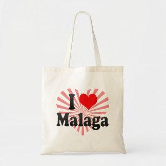 I Love Malaga Spain Me Encanta Malaga Spain Canvas Bags