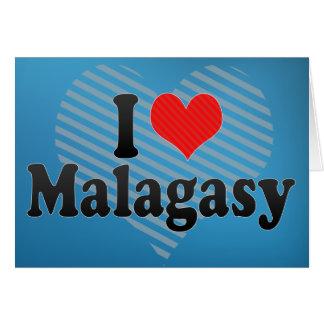 I Love Malagasy Greeting Card