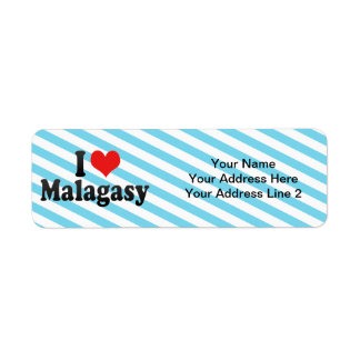 I Love Malagasy Return Address Label