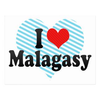I Love Malagasy Postcard