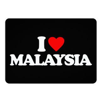 I LOVE MALAYSIA 13 CM X 18 CM INVITATION CARD