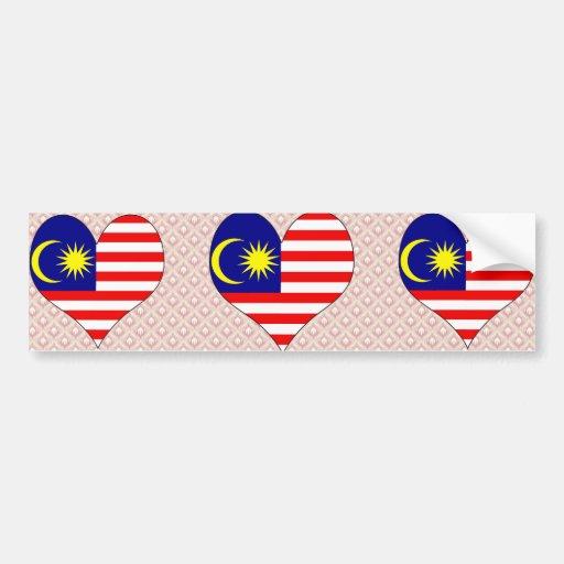 I Love Malaysia Bumper Sticker