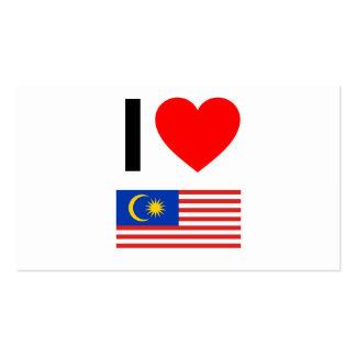 i love malaysia business card template