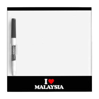 I LOVE MALAYSIA DRY ERASE BOARDS