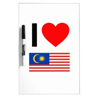 i love malaysia Dry-Erase board