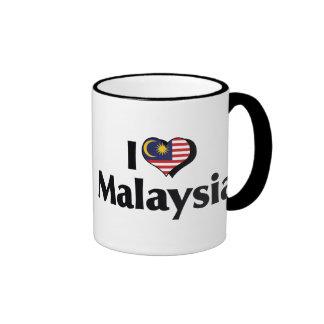 I Love Malaysia Flag Coffee Mugs