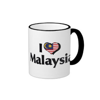I Love Malaysia Flag Ringer Mug