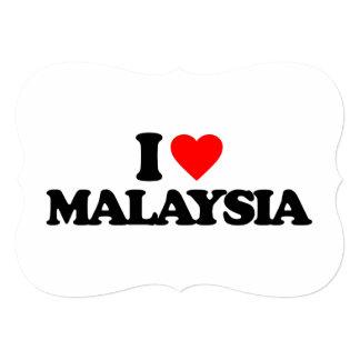 I LOVE MALAYSIA 5X7 PAPER INVITATION CARD