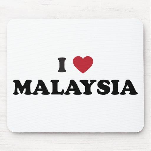 I Love Malaysia Mouse Pads