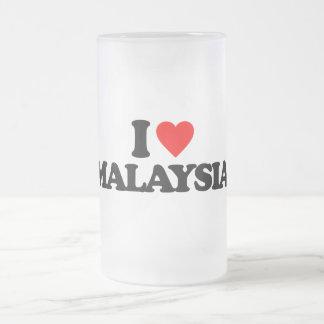 I LOVE MALAYSIA FROSTED GLASS MUG