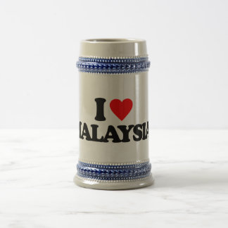 I LOVE MALAYSIA BEER STEINS