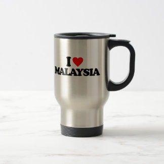 I LOVE MALAYSIA STAINLESS STEEL TRAVEL MUG