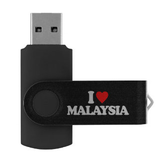 I LOVE MALAYSIA SWIVEL USB 2.0 FLASH DRIVE