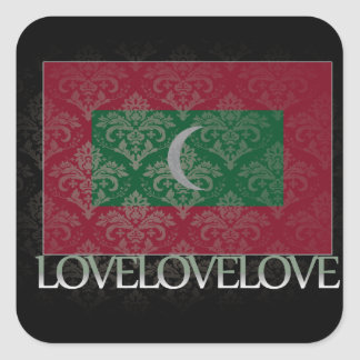 I love Maldives Cool Square Sticker