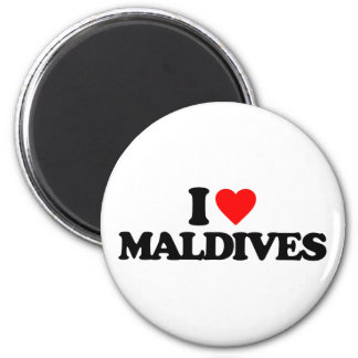 I LOVE MALDIVES MAGNET