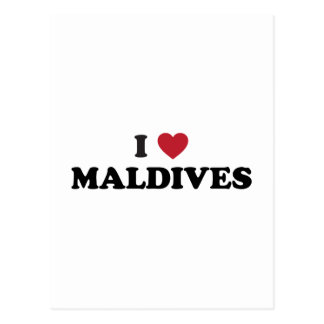 I Love Maldives Postcard