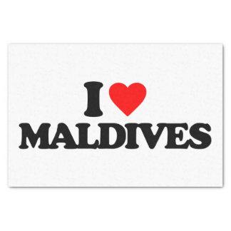 I LOVE MALDIVES TISSUE PAPER