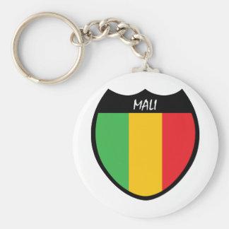 I Love Mali Basic Round Button Key Ring