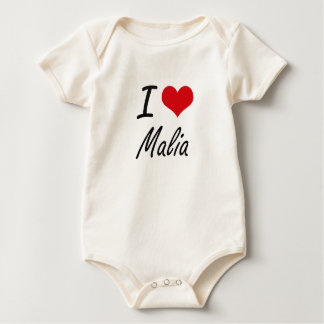 I Love Malia artistic design Bodysuit