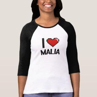 I Love Malia Digital Retro Design T-shirt