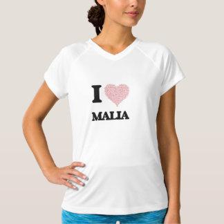 I love Malia (heart made from words) design Shirt
