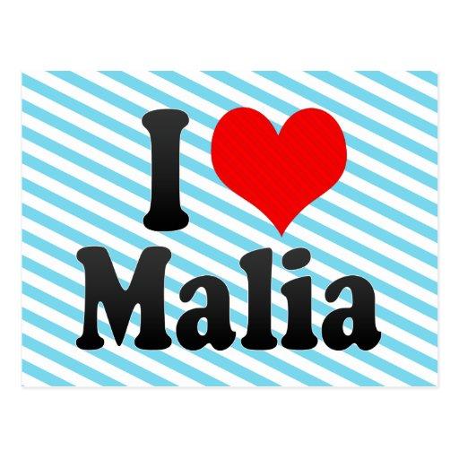 I love Malia Post Card