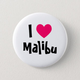 I Love Malibu 6 Cm Round Badge