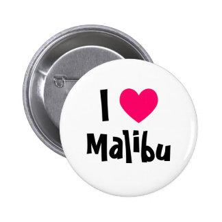 I Love Malibu 6 Cm Round Badge