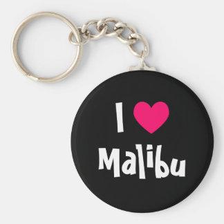 I Love Malibu Key Ring