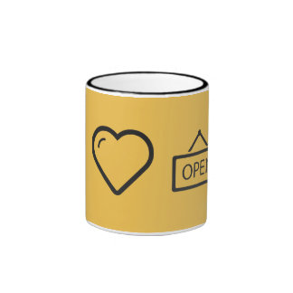 I Love Mall Ringer Mug