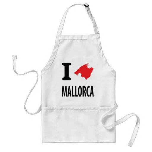 I love Mallorca contour icon Aprons