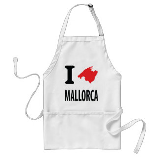 I love Mallorca contour icon Standard Apron