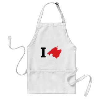 I love mallorca contour symbol standard apron