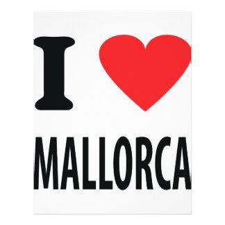 I love mallorca icon flyer design