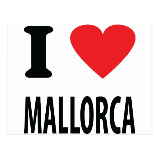 I love mallorca icon post card