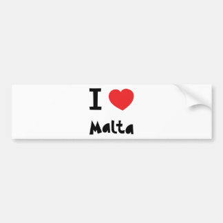 I love malta bumper sticker