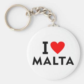 I love Malta country like heart travel tourism Key Ring