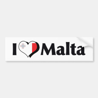 I Love Malta Flag Bumper Sticker