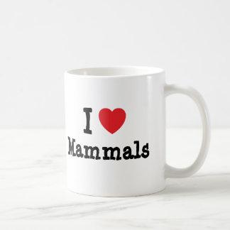 I love Mammals heart custom personalized Mugs