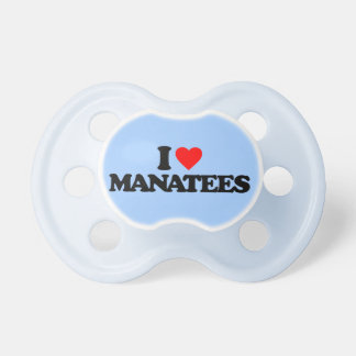 I LOVE MANATEES BABY PACIFIER