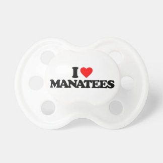 I LOVE MANATEES BABY PACIFIERS