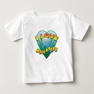 I Love Manatees Baby T-Shirt