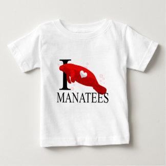 I Love Manatees Baby's Tshirts