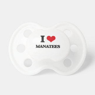 I love Manatees Pacifiers