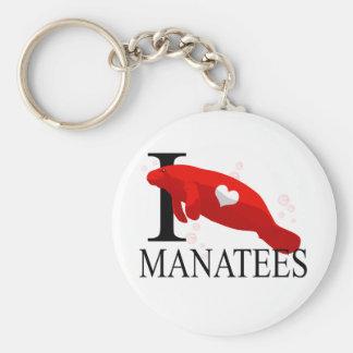 I Love Manatees Keychains