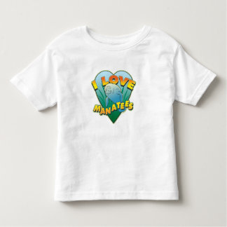 I Love Manatees Toddler T-Shirt