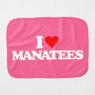 I LOVE MANATEES BURP CLOTHS