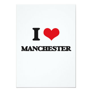 I love Manchester 13 Cm X 18 Cm Invitation Card