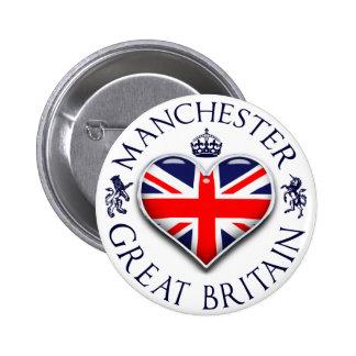 I Love Manchester 6 Cm Round Badge