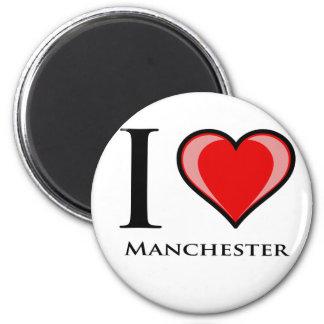 I Love Manchester 6 Cm Round Magnet